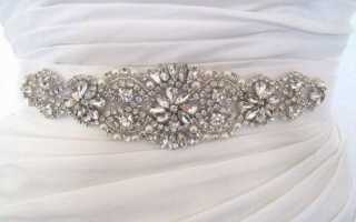 Пояс для свадебного платья – полезные советы по выбору и пошиву