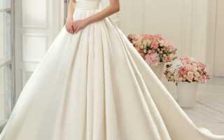 Атласные свадебные платья – обзор моделей и тонкости их выбора