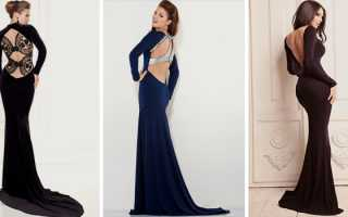 Вечернее платье с открытой спиной