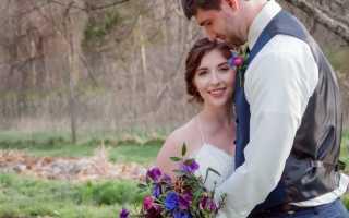 Яркая свадебная фотосессия весной – несколько свежих идей