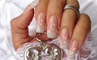 Свадебный маникюр с кружевом