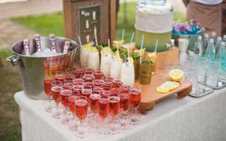 Приветственный коктейль на свадьбе — способ скрасить ожидание гостям