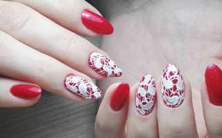 Свадебный маникюр с красным цветом: идеи дизайна ногтей