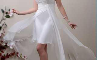 Выбираем свадебное платье короткое спереди и длинное сзади