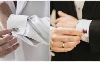 Запонки на свадьбу