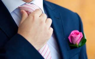 Свадебный галстук для жениха – фото