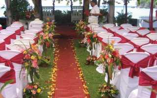 Варианты оформления красно-белой свадьбы: ярко и необычно