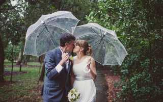 Свадебная фотосессия в дождь: обращаем непогоду в свою пользу