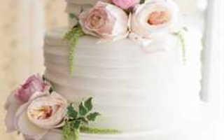 Свадебный торт, украшенный живыми цветами — мастер-классы