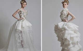 Необычные свадебные платья фото