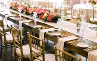 Возможные варианты под декор зала на свадьбу своими руками