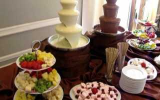 Шоколадный фонтан на свадьбу — все, что нужно знать