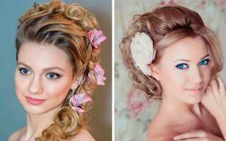 Прически с живыми цветами ? украшение на свадьбу на длинные и средние волосы