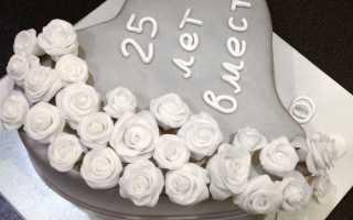 Торт на серебряную свадьбу — идеи, рецепты, фото и видео