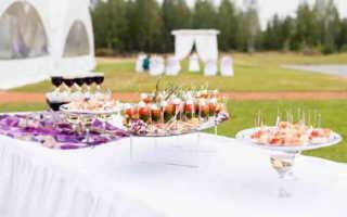 Фуршетное меню на свадьбу, что стоит поставить на столы