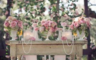 Стиль свадьбы и цветы, которые с ним сочетаются