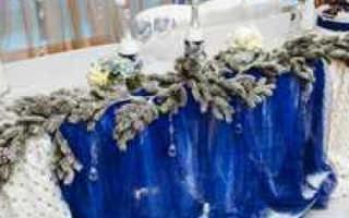Оформление свадьбы зимой: идеи с фото