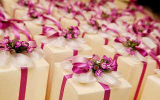 Подарки для гостей на свадьбе — бонбоньерки своими руками