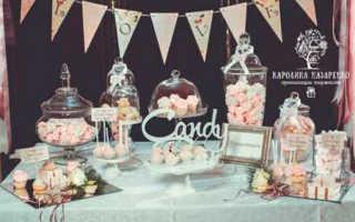 Десерты к свадьбе, что должно быть в candy bar