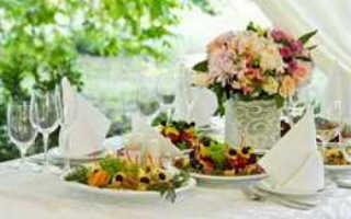 Меню для свадьбы на природе — идеи, советы и расчеты