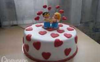 торт на годовщину свадьбы — готовим самостоятельно