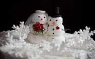 Зимняя свадьба: идеи декора в эко-стиле