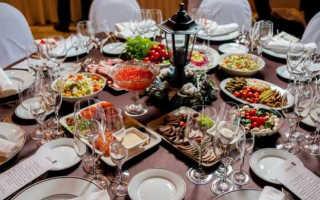 Как составить меню на свадьбу, что должно быть на праздничном столе
