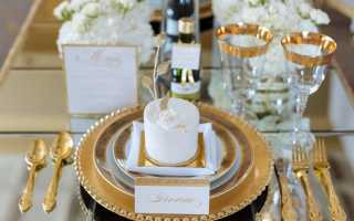 Идеи оформления свадьбы в золотом цвете: все самое интересное