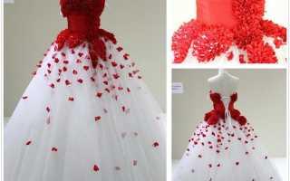 Экстравагантное красное свадебное платье — значение, особенности выбора, цена