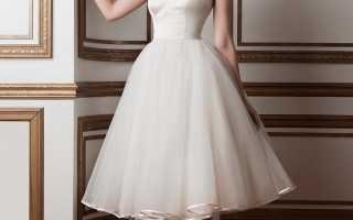 Удобное короткое свадебное платье – основные правила выбора