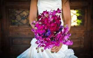 Фиолетовый букет невесты – советы по выбору и лучшие сочетания