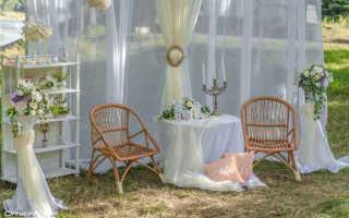 Шесть идей для оформления фотозоны на летней свадьбе