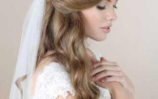 Идеи свадебных причесок с распущенными волосами: модные тенденции