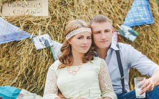 Ситцевая свадьба: фотосессия идеи