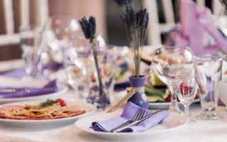 Меню на лавандовой свадьбе — что приготовить