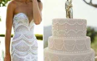 Тенденции свадебных тортов: омбре, гофре, открытый торт и другие