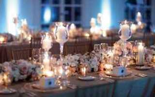 Украшение свадьбы свечами: идеи, фото и видео