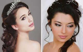 Свадебный макияж фото для брюнеток