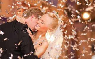 Как можно использовать свадебное конфетти