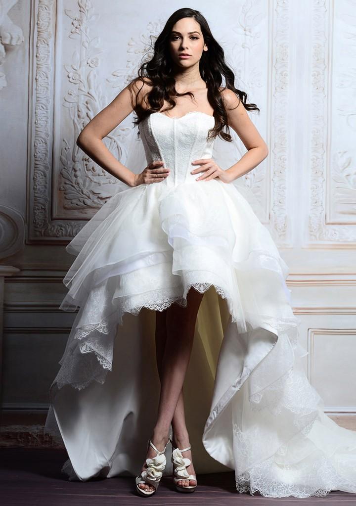 Платье каскад