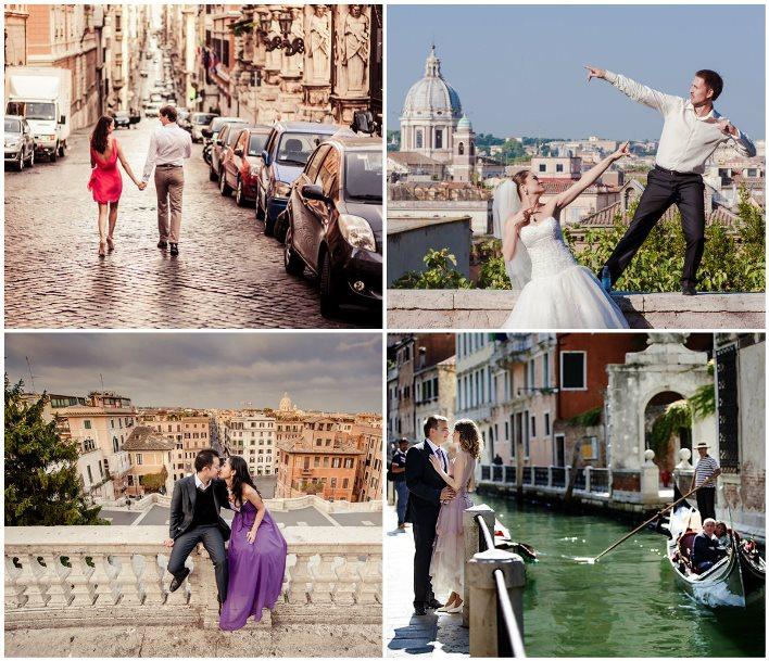 Посещение Италии молодоженами в медовый месяц