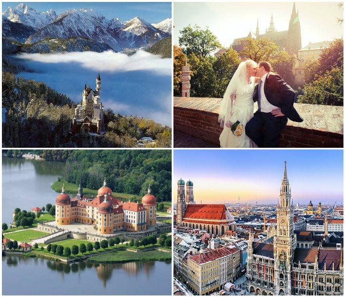 Поездка после свадьбы по городам Германии