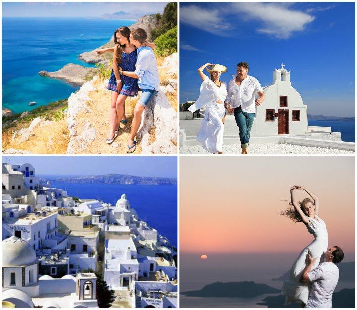 Свадебное путешествие на Санторини