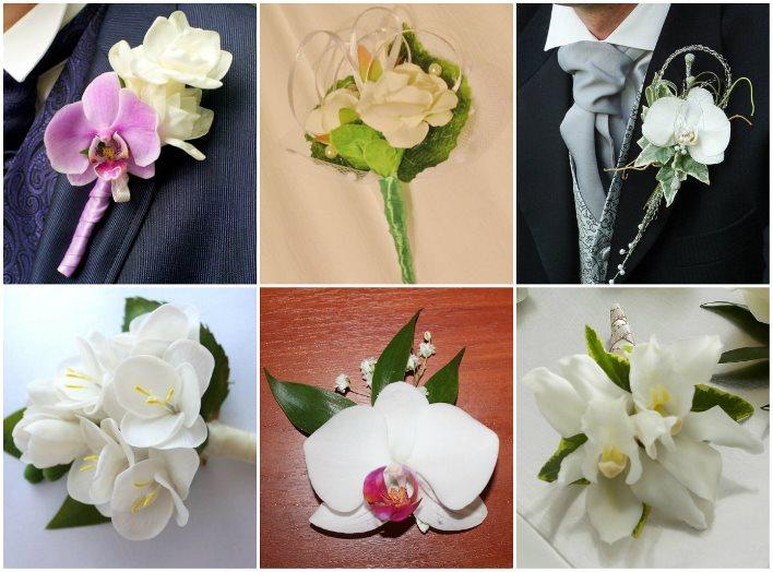 Цветочная композиция из орхидей и фрезий