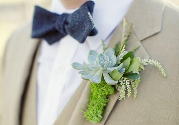 Сочетание бутоньерки и букета невесты