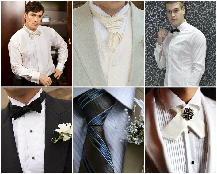 Сорочки на свадьбу с плиссе на груди