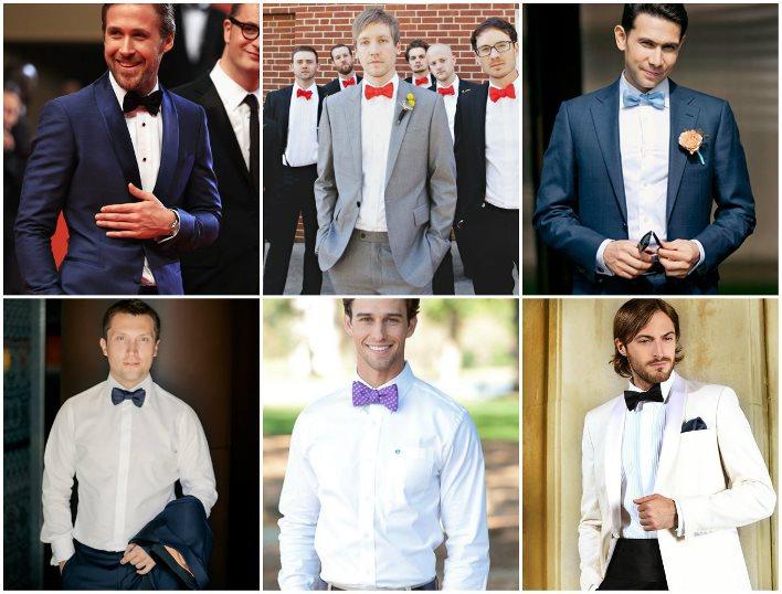 Рубашки под галстуки-бабочки: свадебный вариант