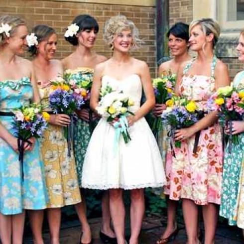 наряд для девушек на винтажную свадьбу