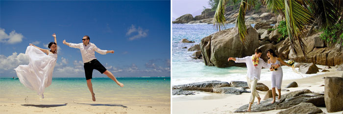 Молодожены проводят медовый месяц на островах Маврикия