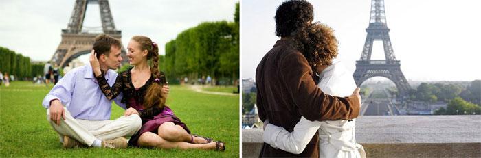 Проведение медового месяца в Париже